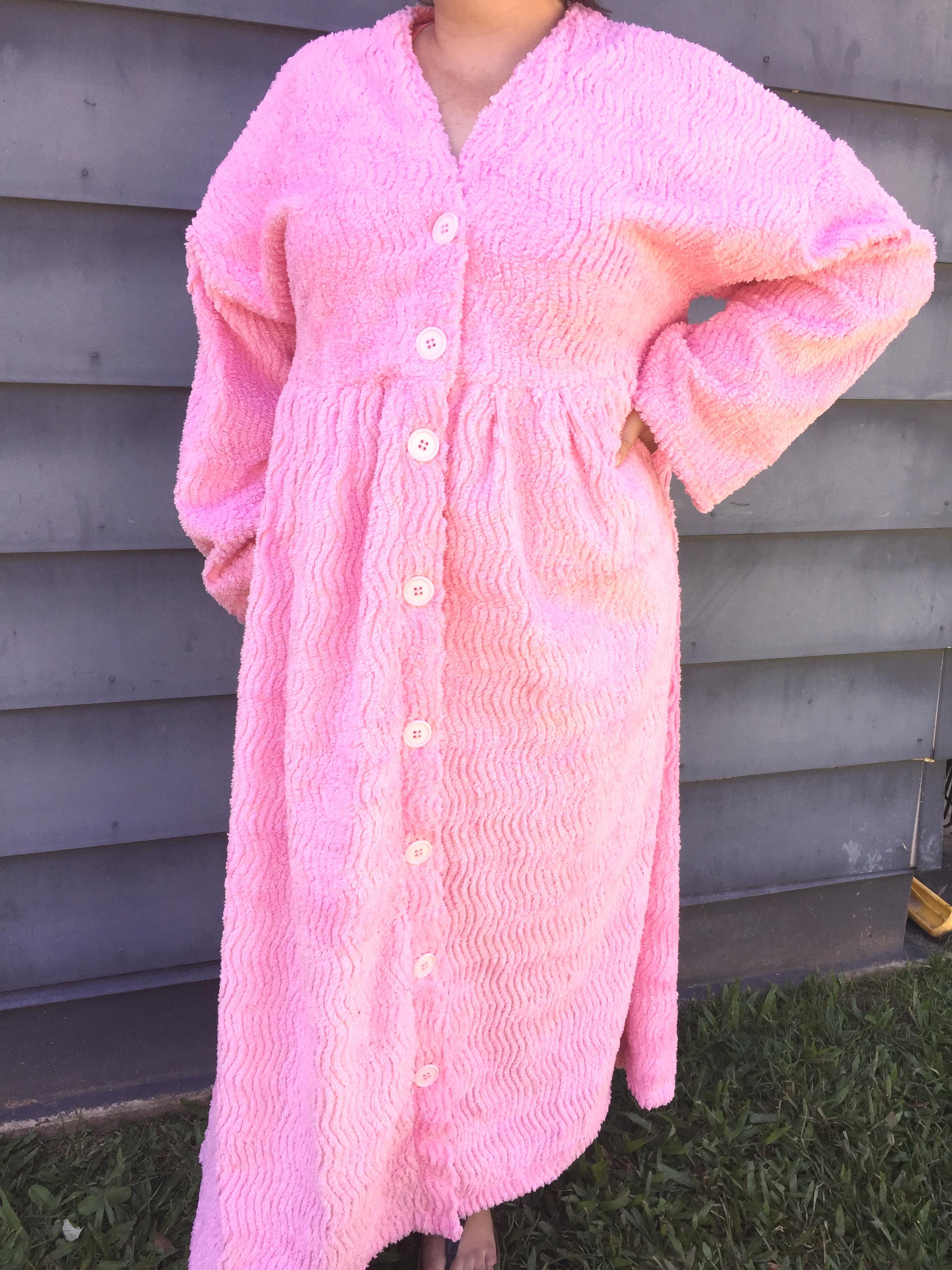 Plus Size Chenille Dressing Gown - JayCeKay