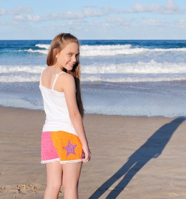 Girls Chenille Shorts